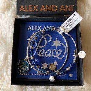 NWT Alex and Ani Peace Bracelet Set of 2